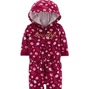 *NEW* Carter's Floral Hooded Jumpsuit
